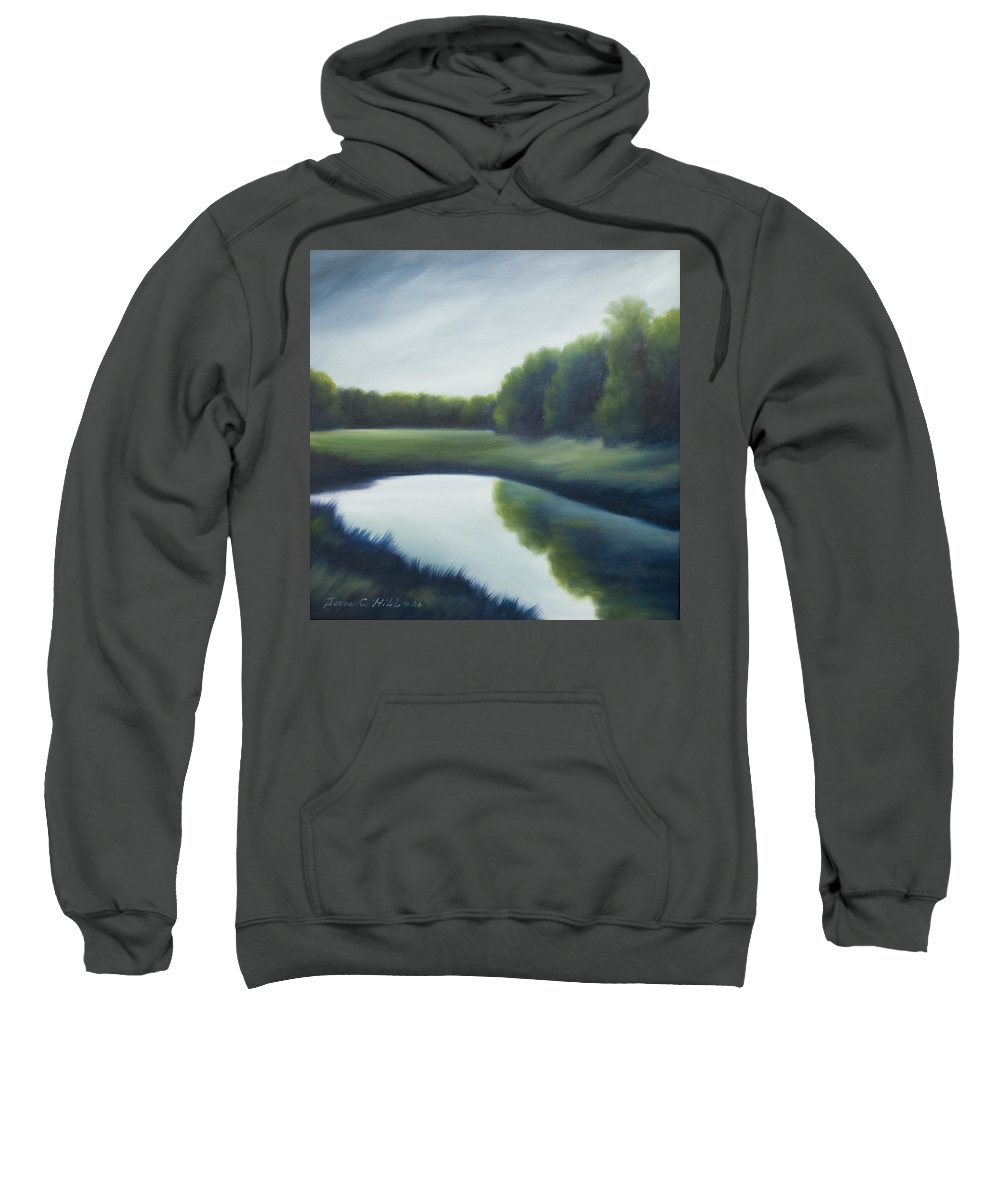 Clouds Sweatshirt featuring the painting A Day In The Life 2 by James Christopher Hill