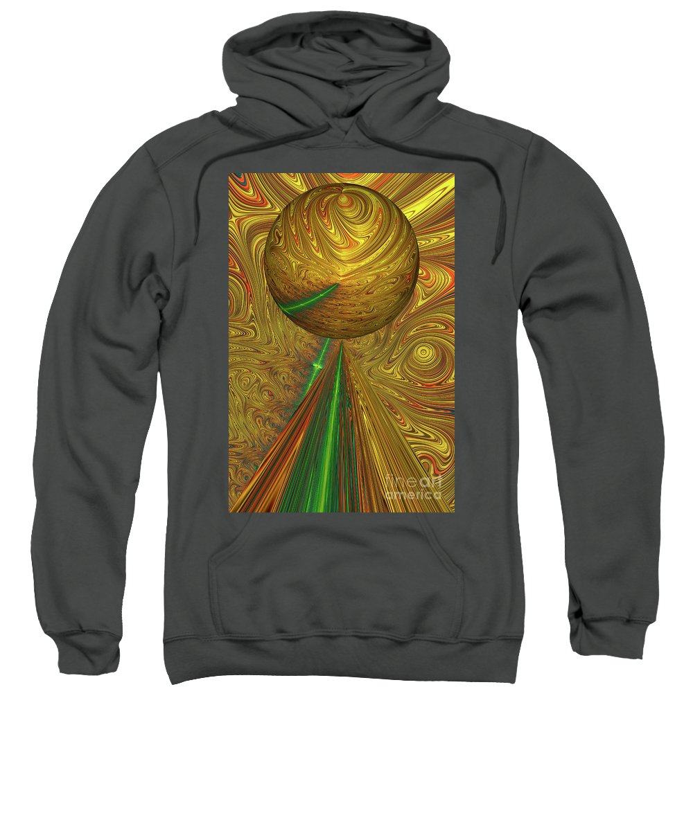 Fractal Sweatshirt featuring the photograph A Different Planet by Steve Purnell