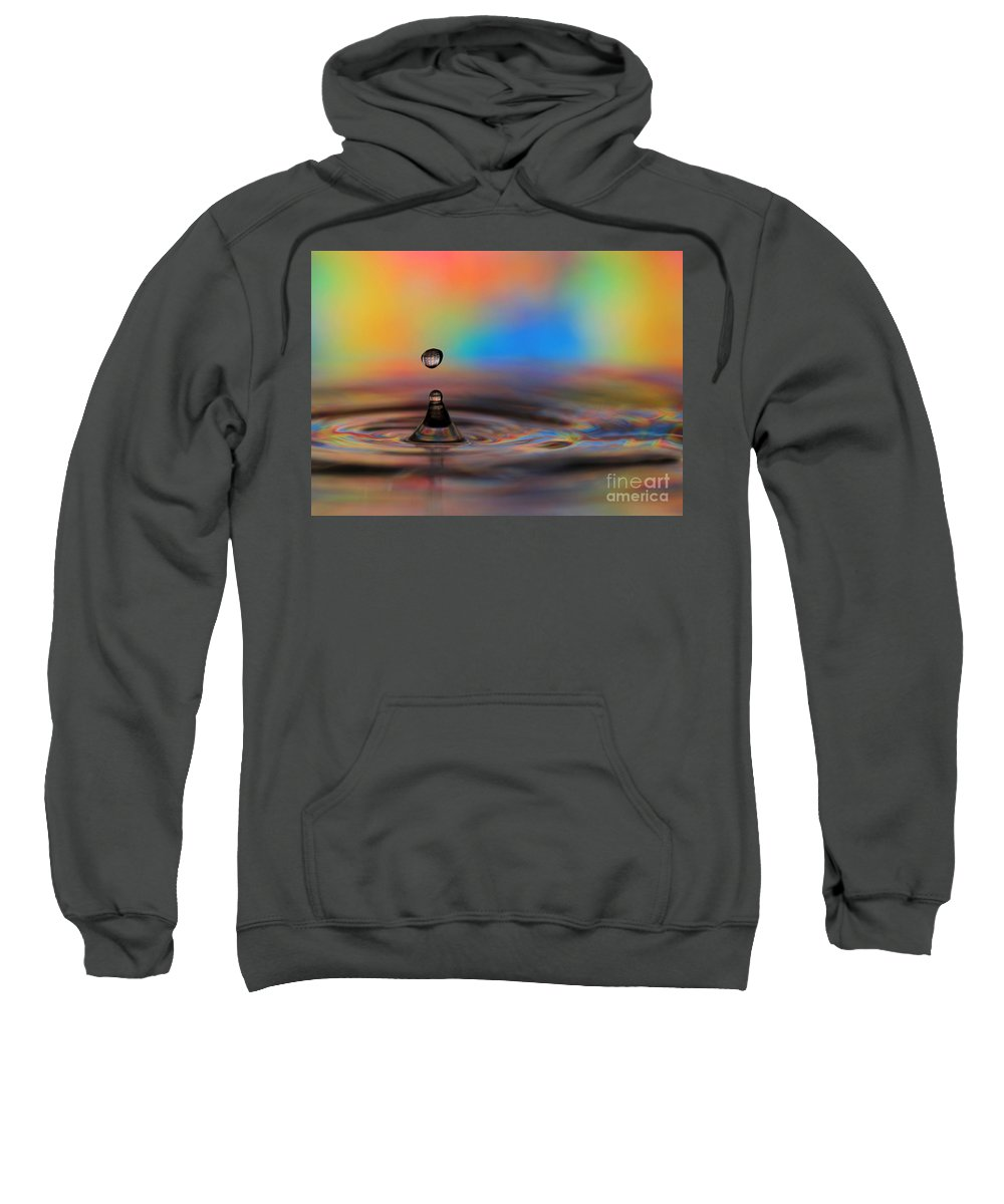 Drop Sweatshirt featuring the photograph A Drop by Sabrina L Ryan