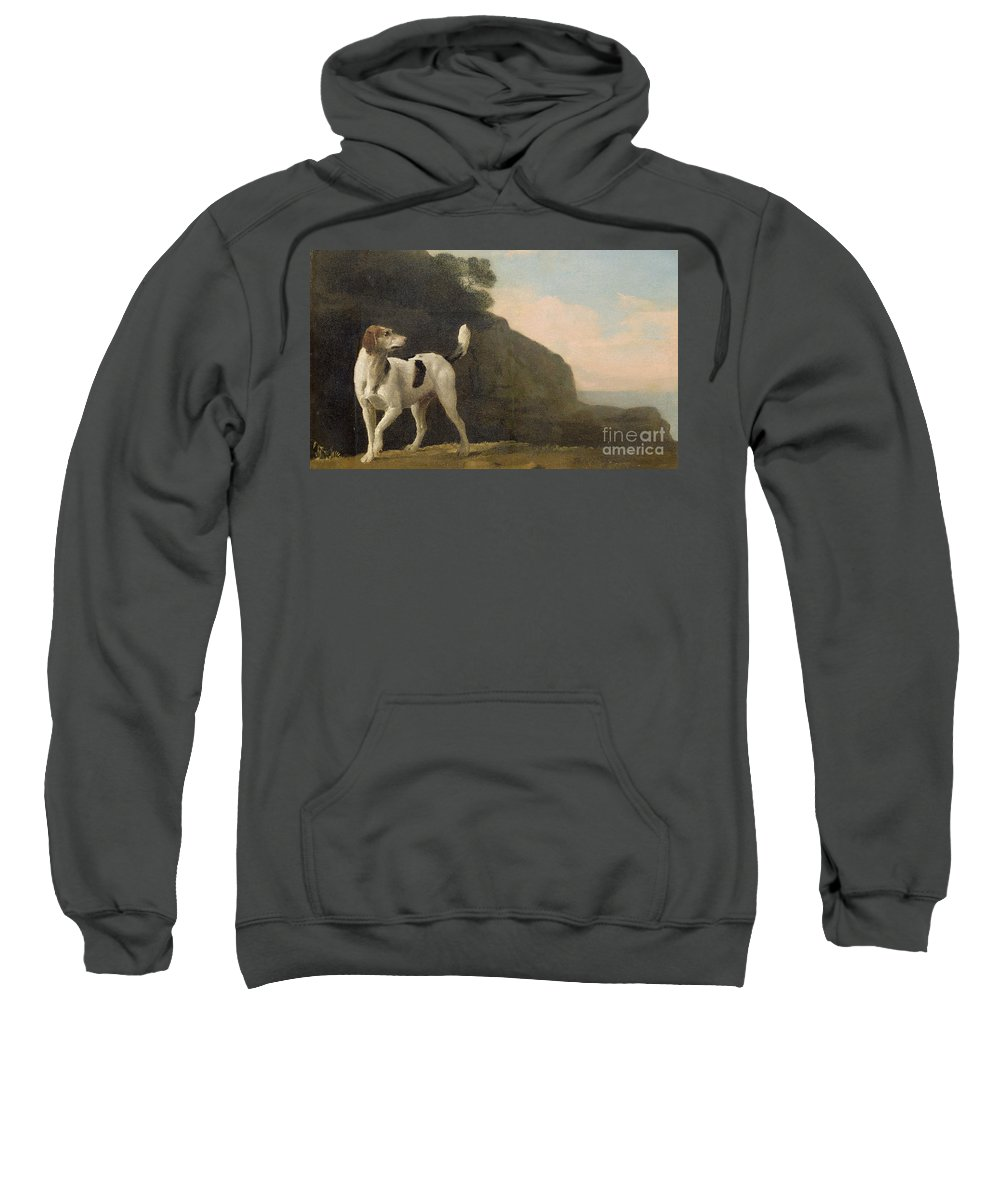 Foxhound Sweatshirt featuring the painting A Foxhound by George Stubbs