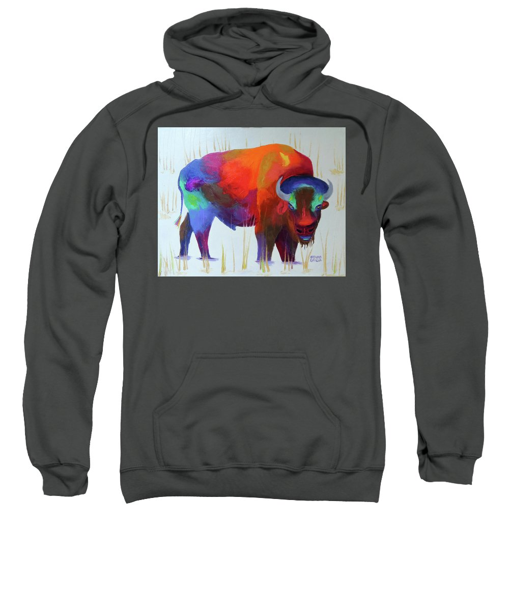 Oil On Canvas By Arturo Garcia Sweatshirt featuring the painting A Gentle Look by Arturo Garcia