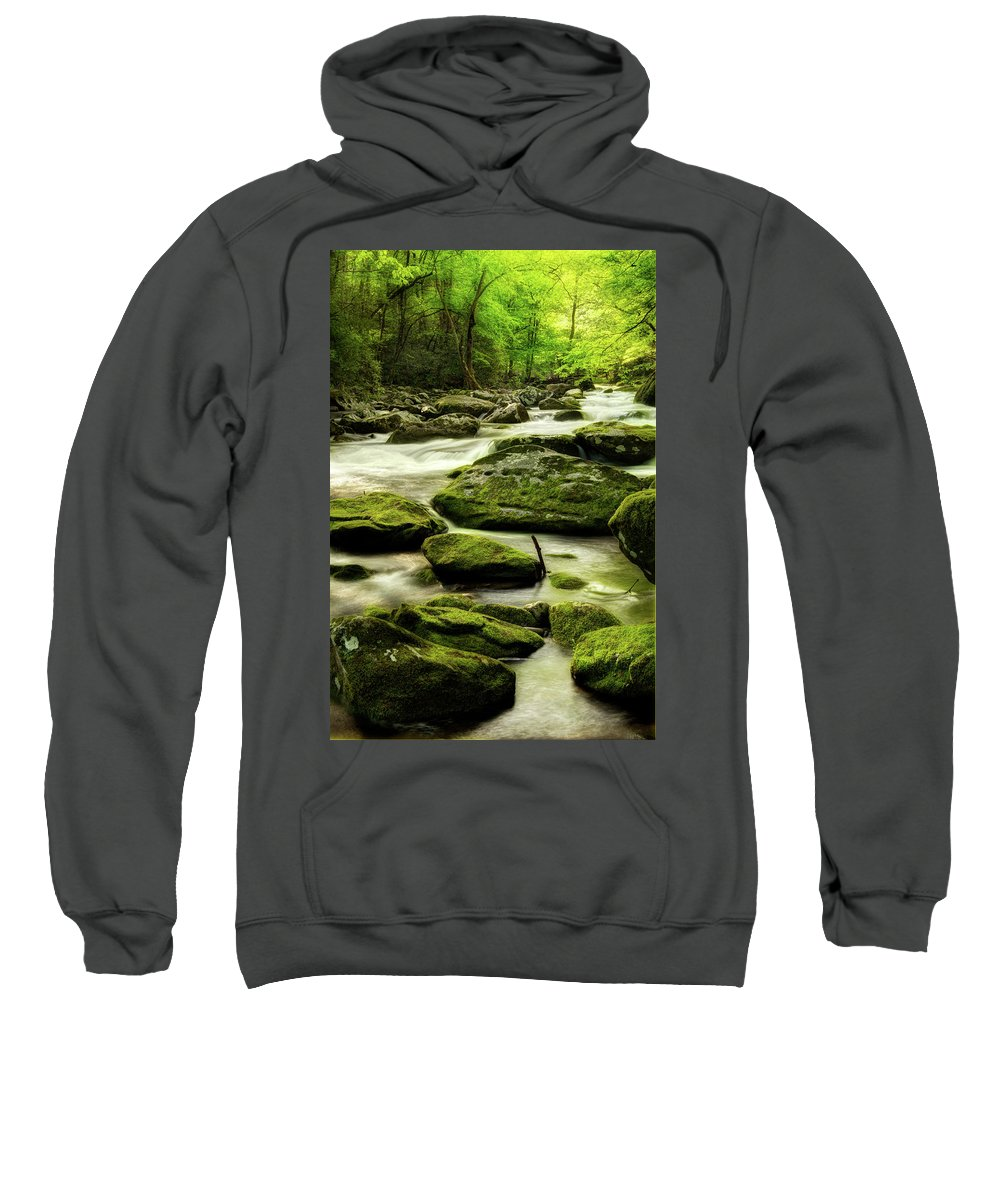 Tennessee Stream Sweatshirt featuring the photograph A Good Way To Start The Morning by Mike Eingle