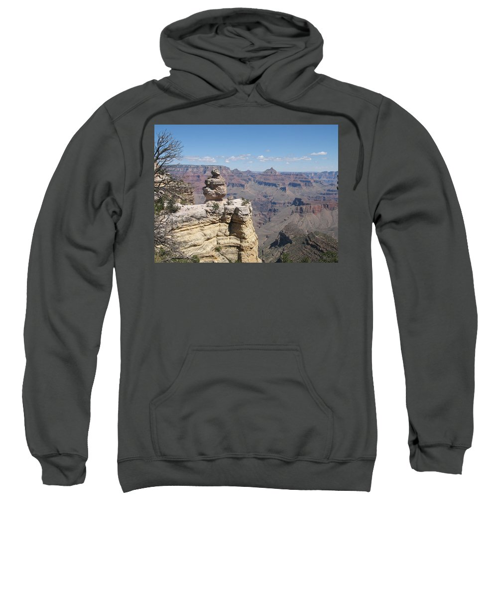 Canyon Sweatshirt featuring the photograph Grand Canyon Viewpoint by Christiane Schulze Art And Photography