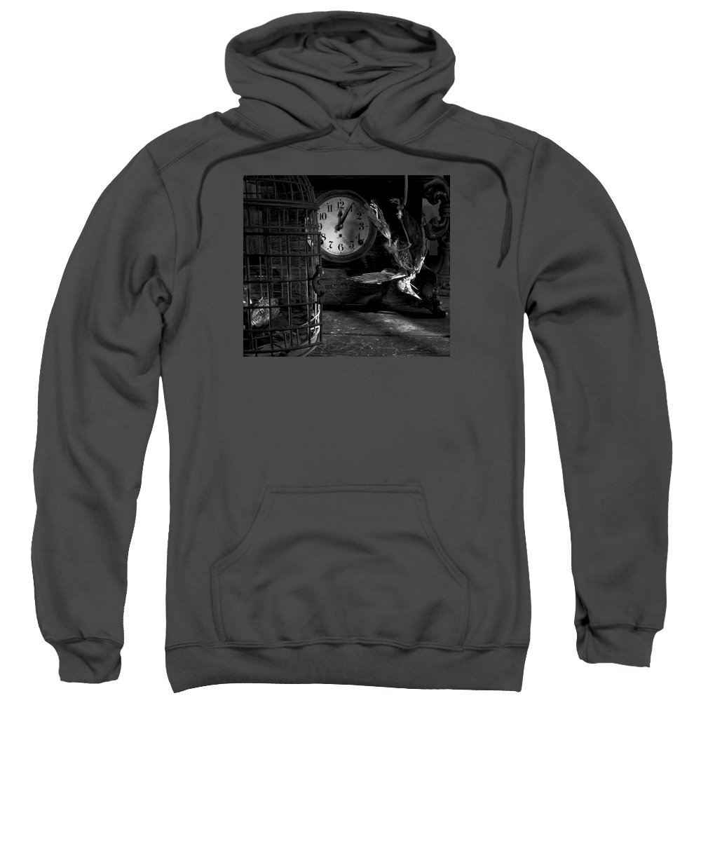 Freedom Comes A Lil Too Late For This One. Sweatshirt featuring the photograph A Little Too Late by Robert Och