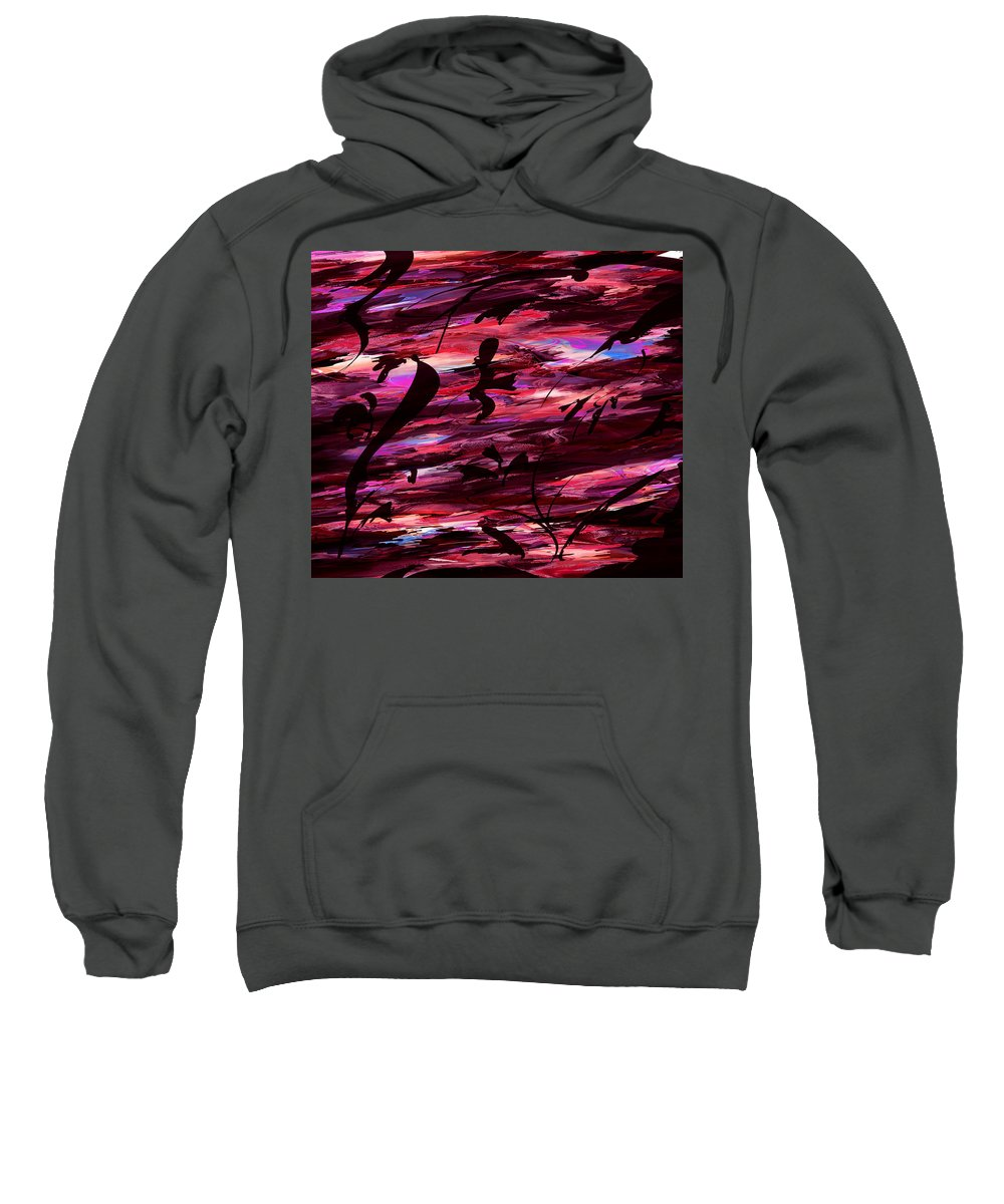 Abstract Sweatshirt featuring the digital art A Make Believe Perception by Rachel Christine Nowicki