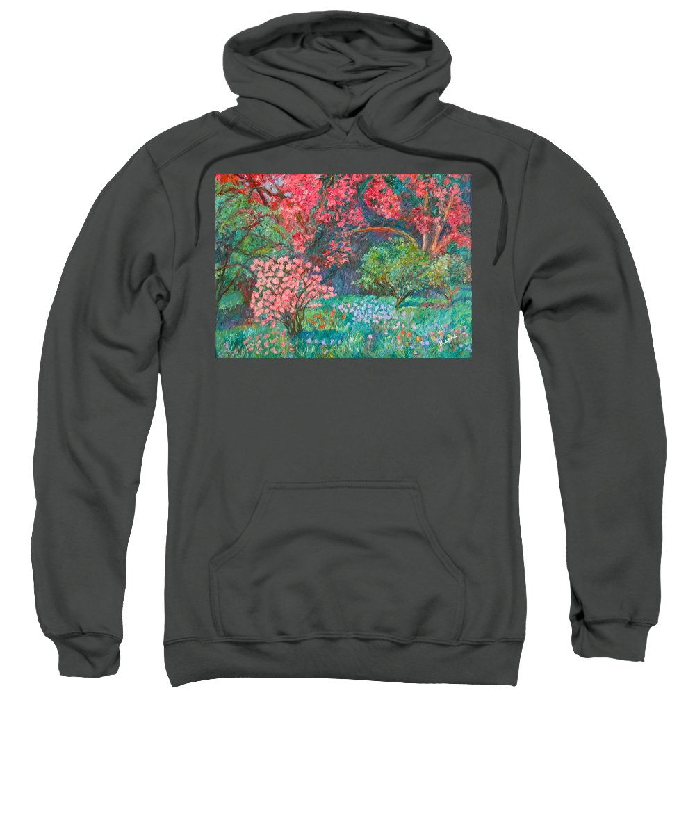 Landscape Sweatshirt featuring the painting A Memory by Kendall Kessler