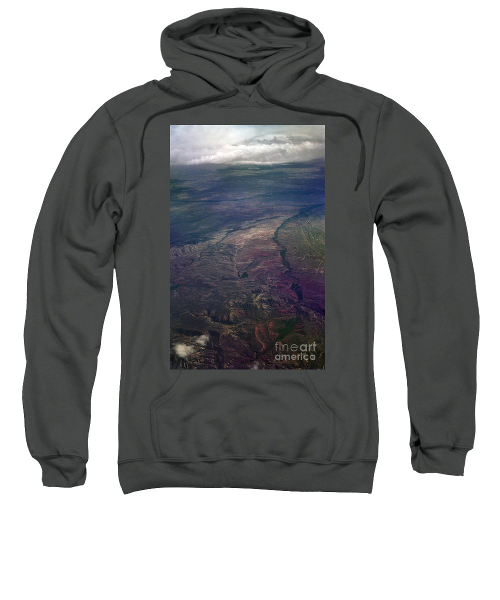 Aerial Photography Sweatshirt featuring the photograph A Midwestern Landscape by Richard Rizzo