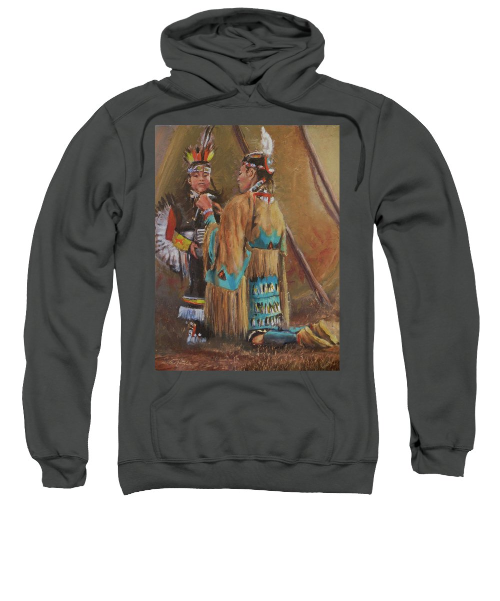 Mothers Sweatshirt featuring the painting A Mother's Touch by Mia DeLode