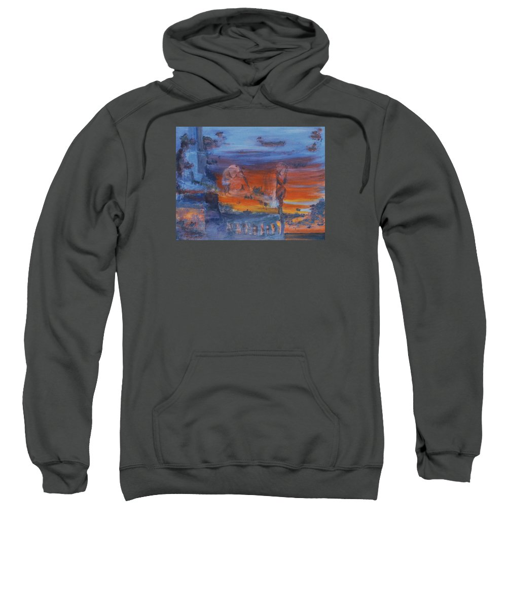 Abstract Sweatshirt featuring the painting A Mystery Of Gods by Steve Karol