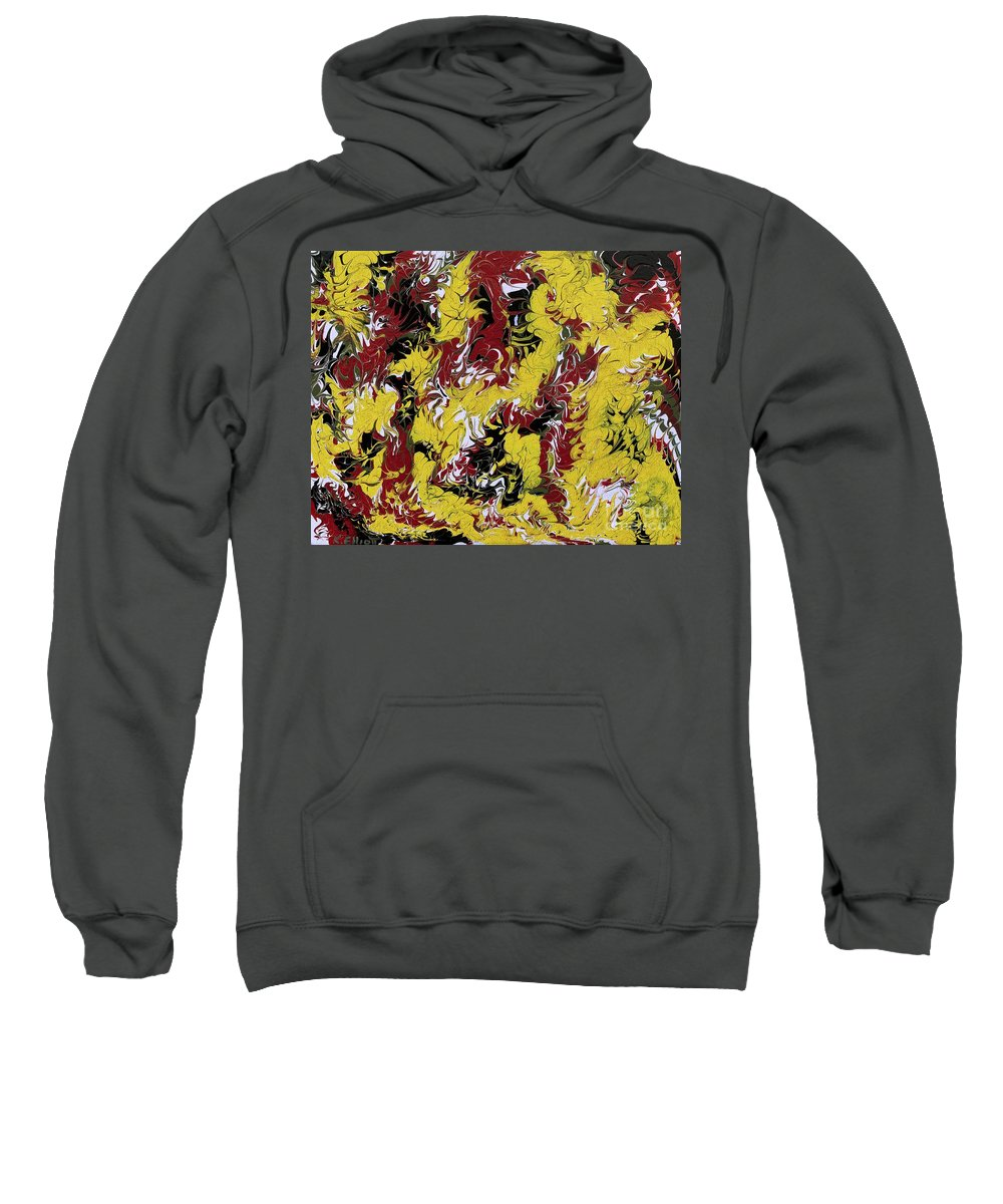 Keith Elliott Sweatshirt featuring the painting A New Day - V1lle30 by Keith Elliott