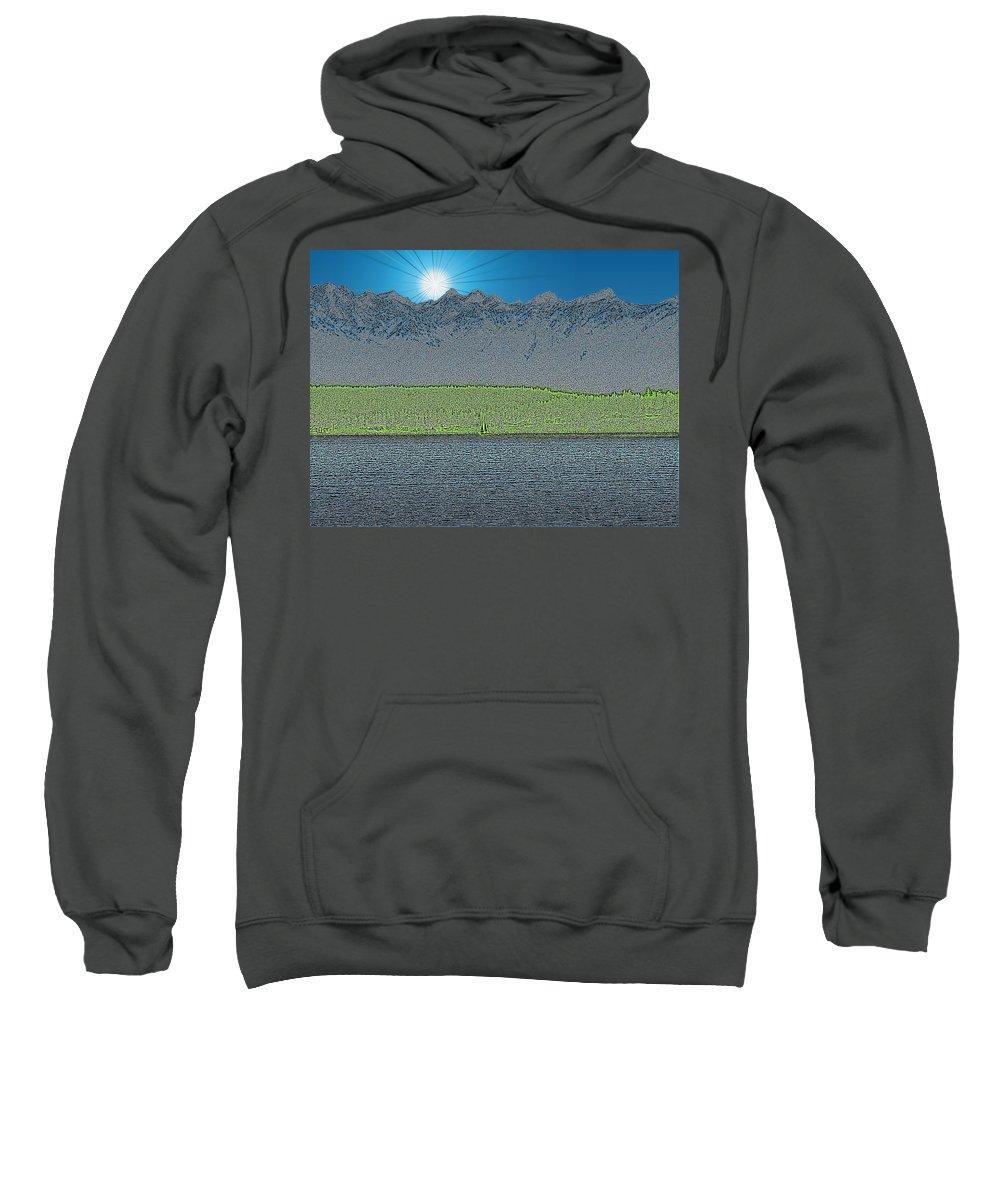 Sailboat Sweatshirt featuring the digital art A Perfect Ending by Tim Allen