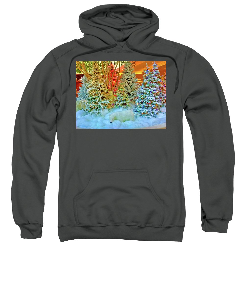 Digital Art Sweatshirt featuring the digital art A Polar Bear Christmas 2 by Marian Bell