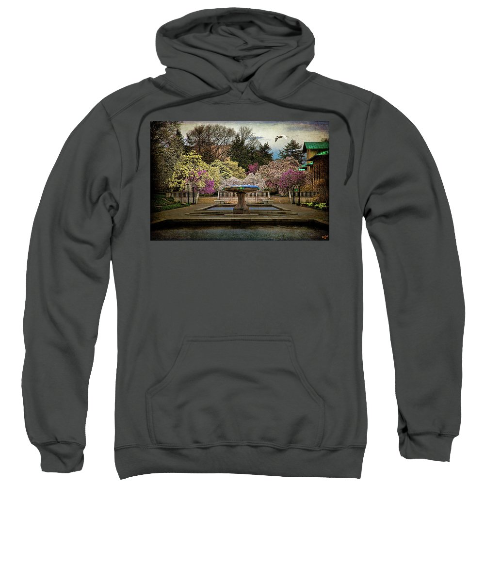 Brooklyn Sweatshirt featuring the photograph A Rainy Day In Magnolia Season by Chris Lord