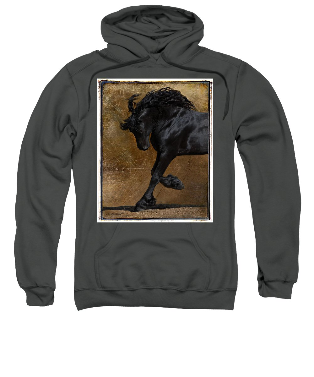 Horse Sweatshirt featuring the photograph A Regal Bow by Jean Hildebrant