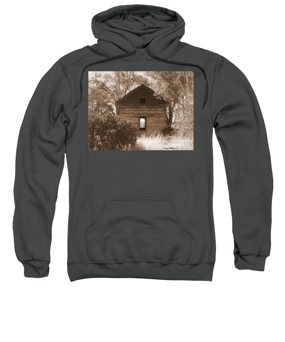 Old Cabin Sweatshirt featuring the photograph A Room With A View by Carol Groenen
