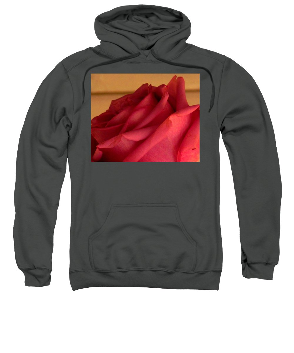 Rose Sweatshirt featuring the photograph A Rose In Horizonal by Ian MacDonald