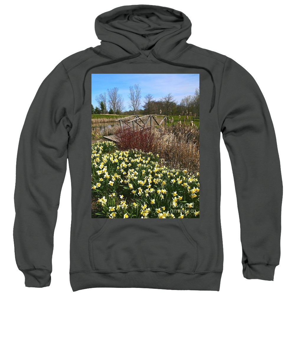 Related Tags: Flowers Artwork Sweatshirt featuring the photograph A Spring Pathway by Robert Pearson