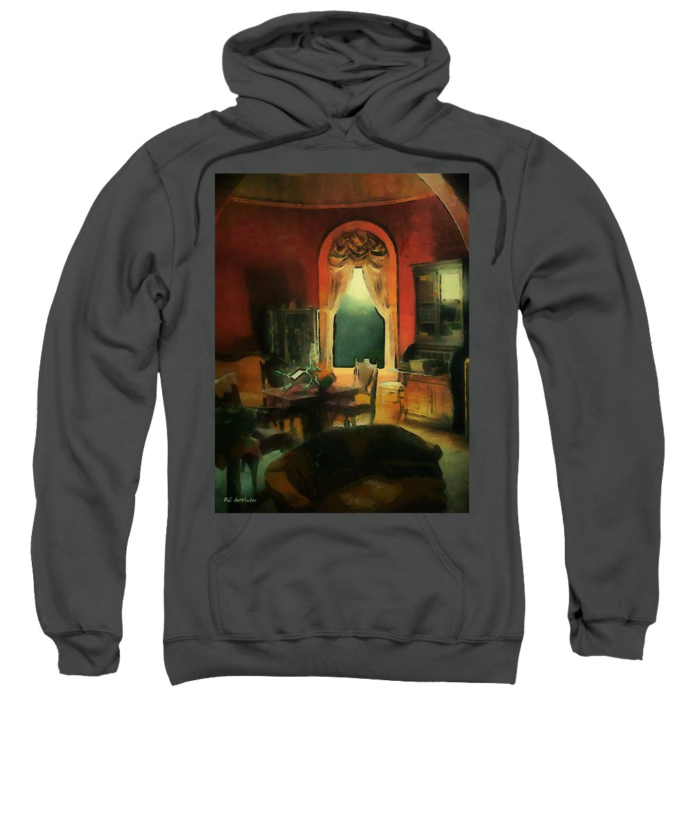 Room Sweatshirt featuring the painting A Study In Scarlet by RC DeWinter