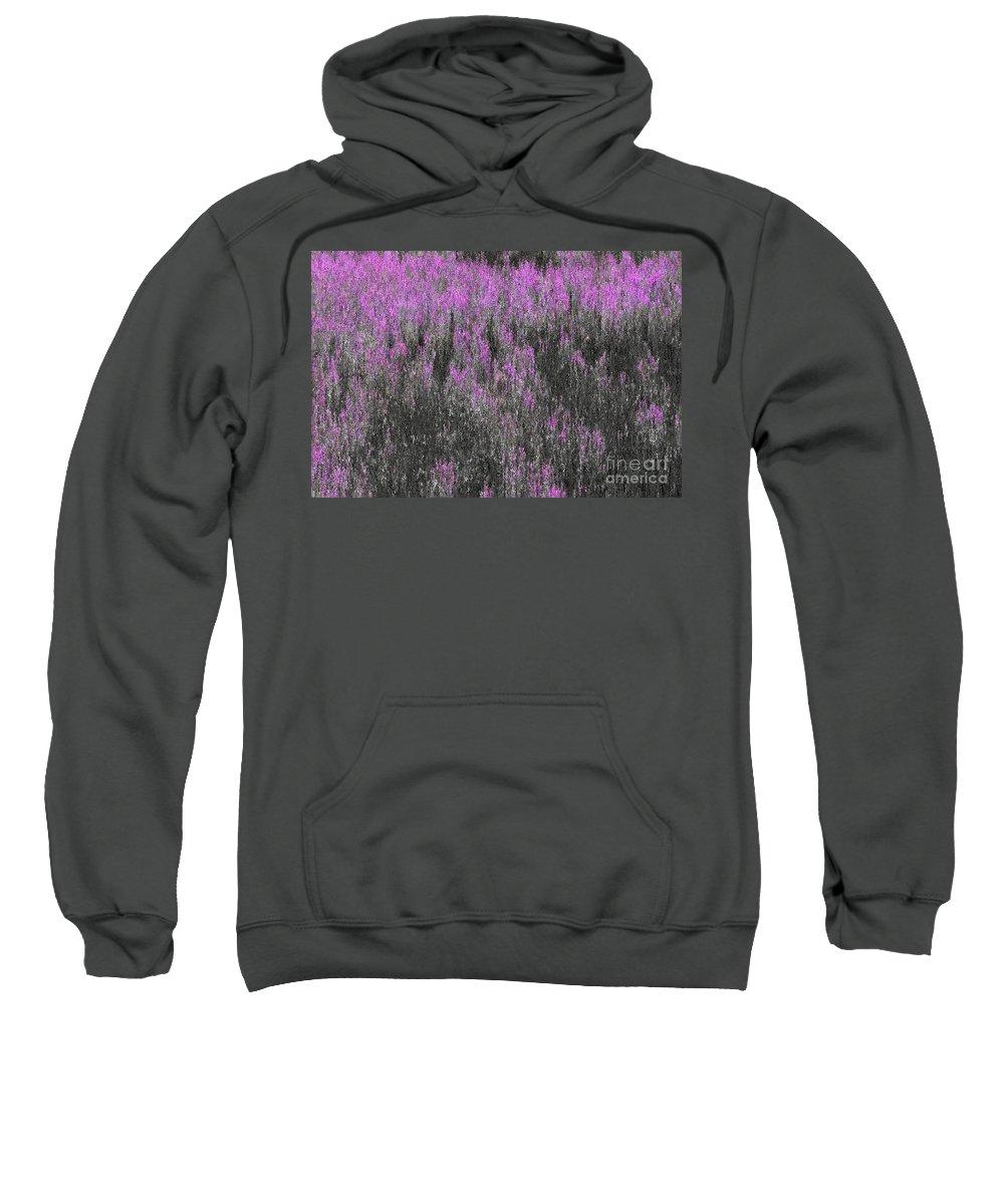 Impressionism Sweatshirt featuring the digital art A Suggestion Of Wildflowers by Elizabeth McTaggart