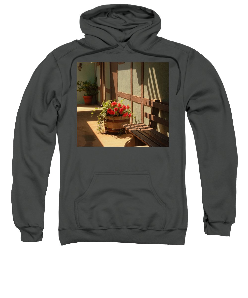 Photography Sweatshirt featuring the photograph A Sunny Spot by Susanne Van Hulst