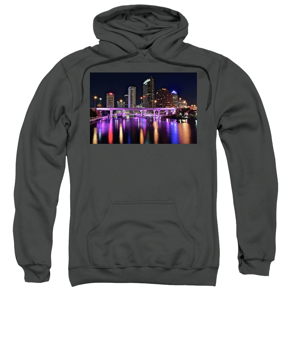 Tampa Sweatshirt featuring the photograph A Tampa Night by Frozen in Time Fine Art Photography