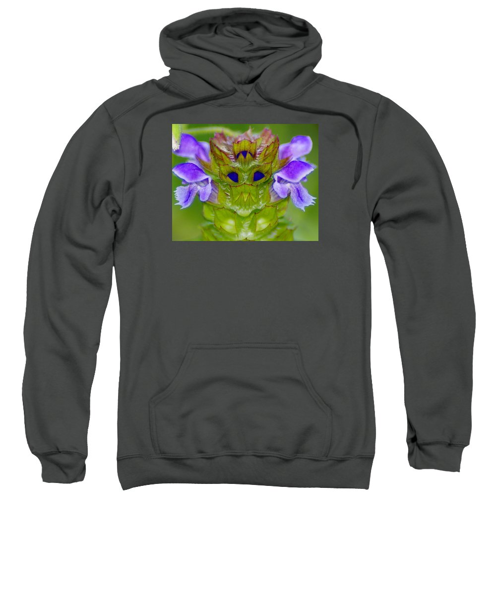 Flowers Sweatshirt featuring the photograph A Tiny Flower King by Ben Upham III