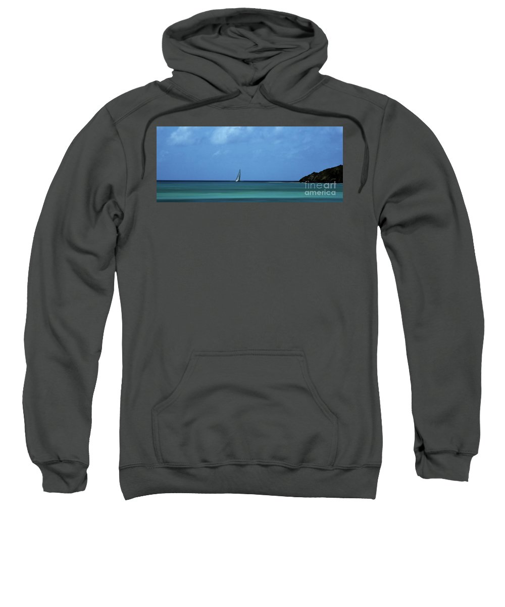 Sailing Sweatshirt featuring the photograph A Tranquill Day by Arnie Goldstein