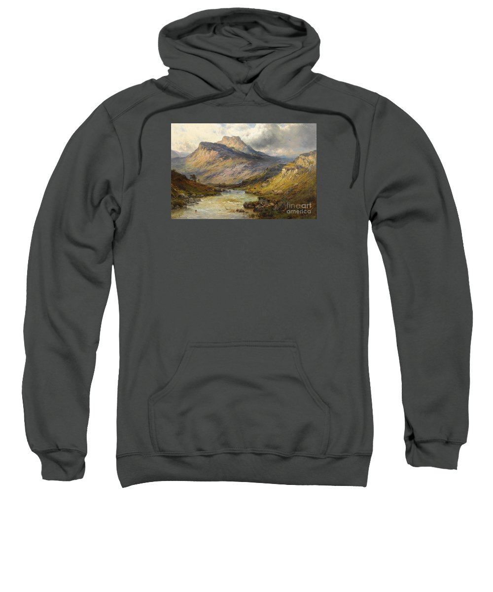 Alfred De Br�anski Sweatshirt featuring the painting A Trout Stream Near Stirling by Celestial Images