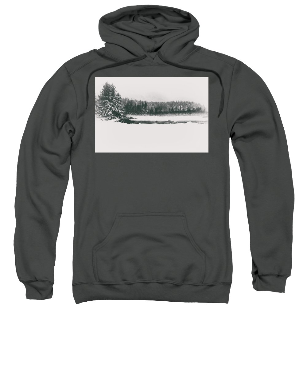 Winter Sweatshirt featuring the photograph A Winter Whiteout by Scott Slone
