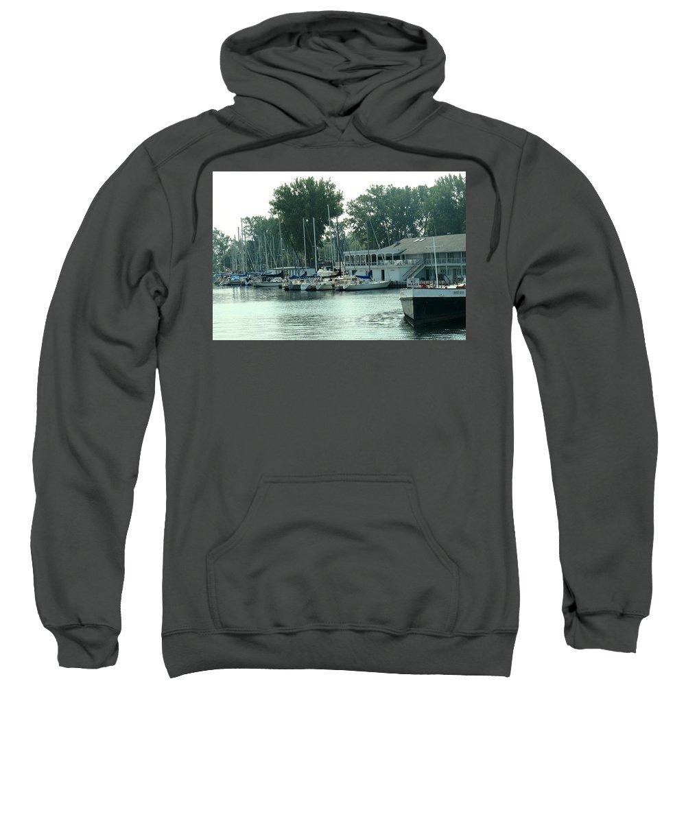 Toronto Sweatshirt featuring the photograph A Yacht Club by Ian MacDonald