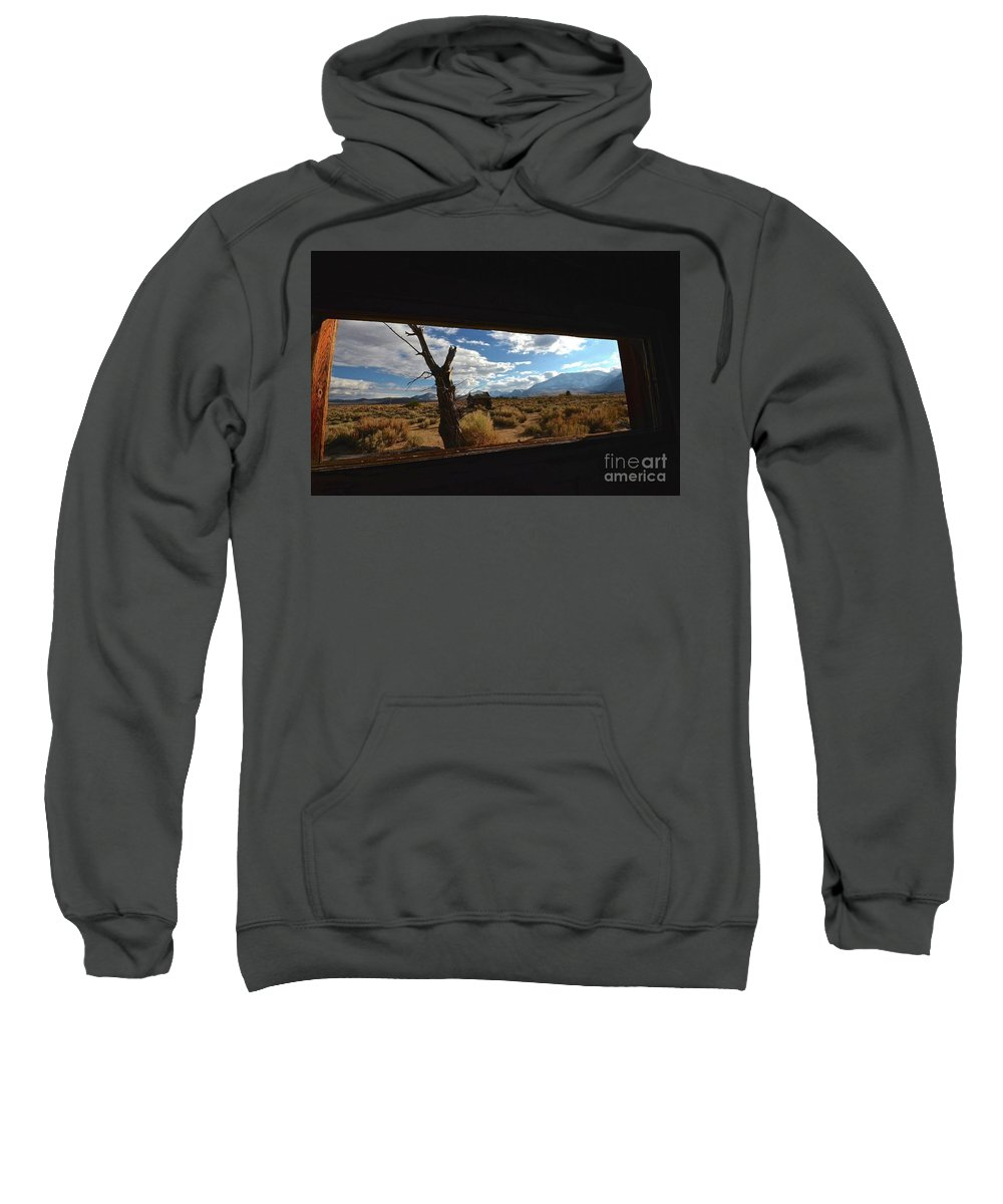 Abandonded Cabin Sweatshirt featuring the photograph Abandoned Cabin Eastern Sierra Nevadas by Bruce Chevillat
