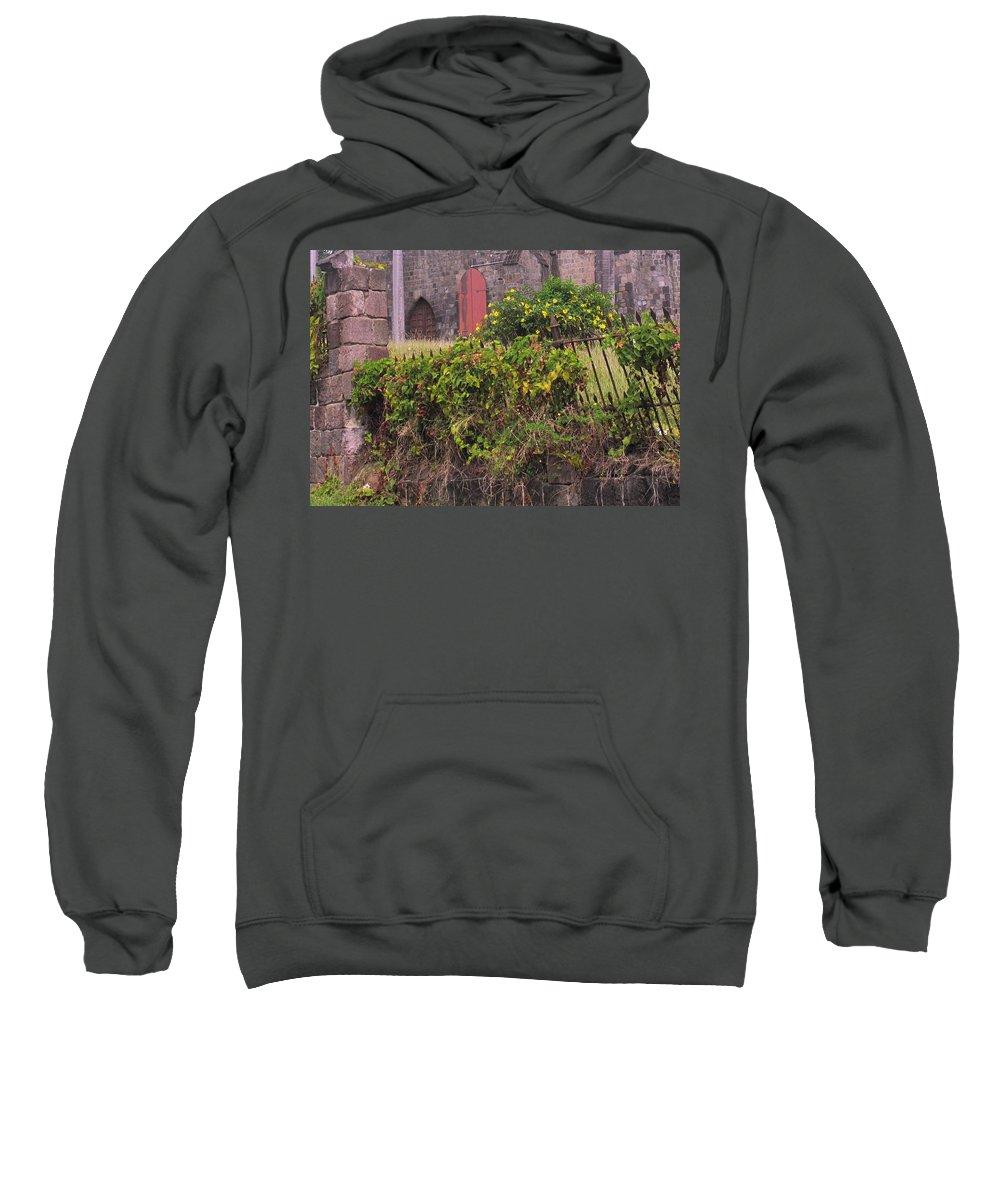 Anglican Sweatshirt featuring the photograph Abandoned Churchyard by Ian MacDonald