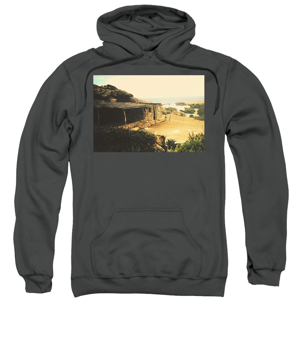 Aruba Sweatshirt featuring the photograph Abandoned In Aruba by Ian MacDonald