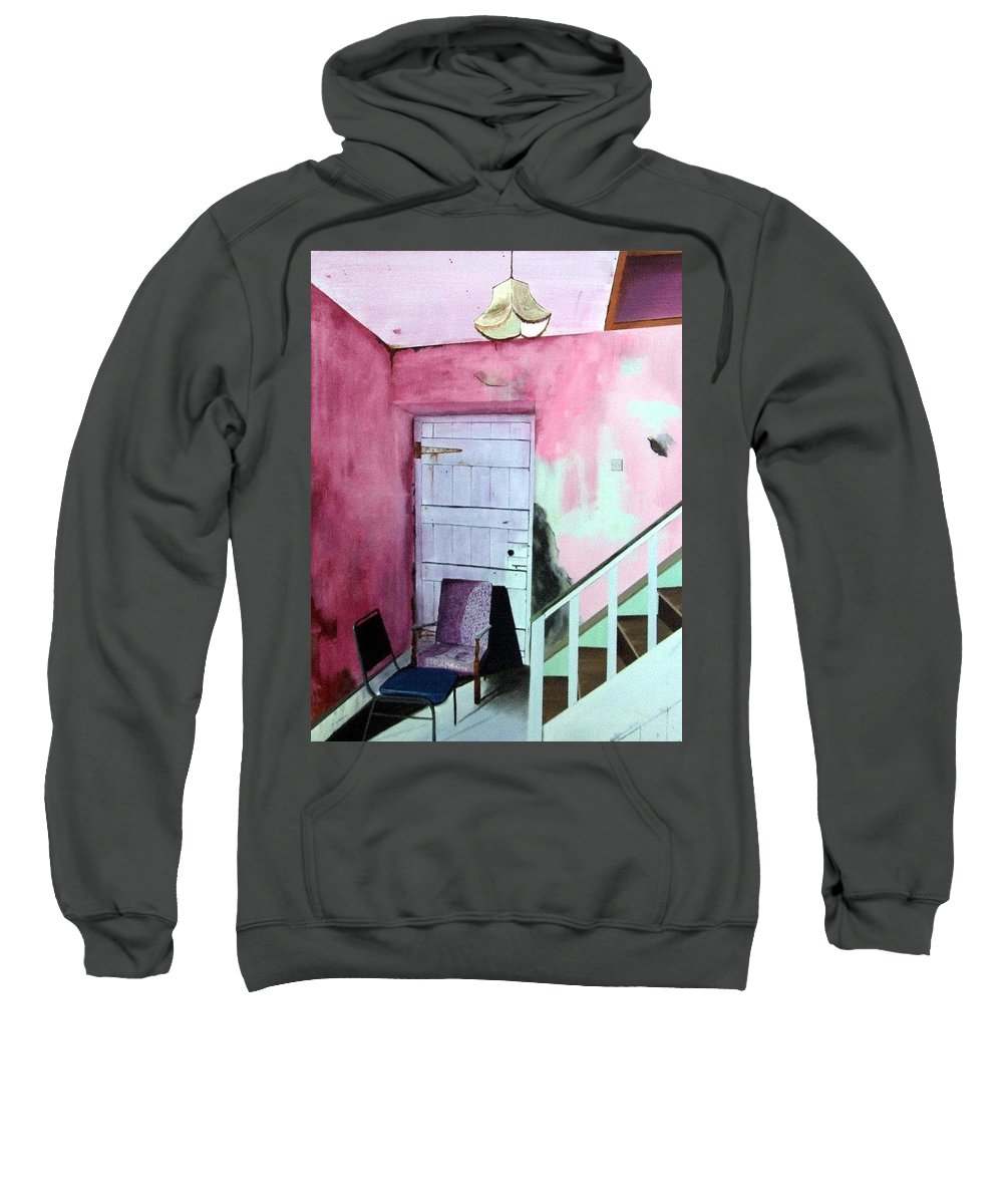 Abandoned Sweatshirt featuring the painting Abandonment by Tony Gunning