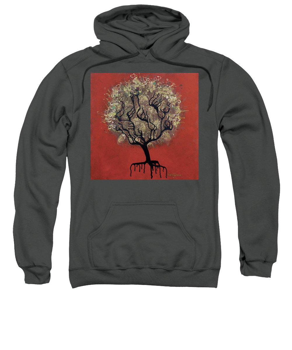Tree Sweatshirt featuring the painting Abc Tree by Kelly Jade King