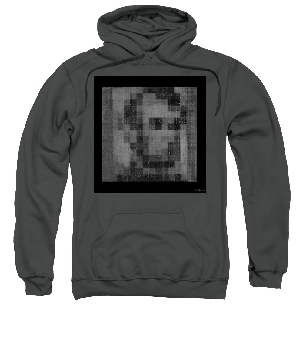 Black And White Sweatshirt featuring the photograph Abe In Black And White by Rob Hans