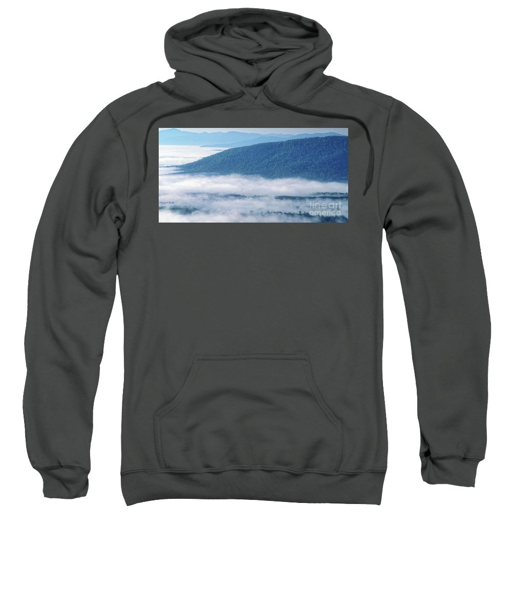 Blue Ridge Parkway Sweatshirt featuring the photograph Above The Clouds Panoramic by Doug Berry