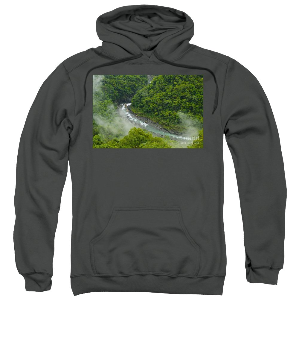 Forest Sweatshirt featuring the photograph Above The River by MingTa Li