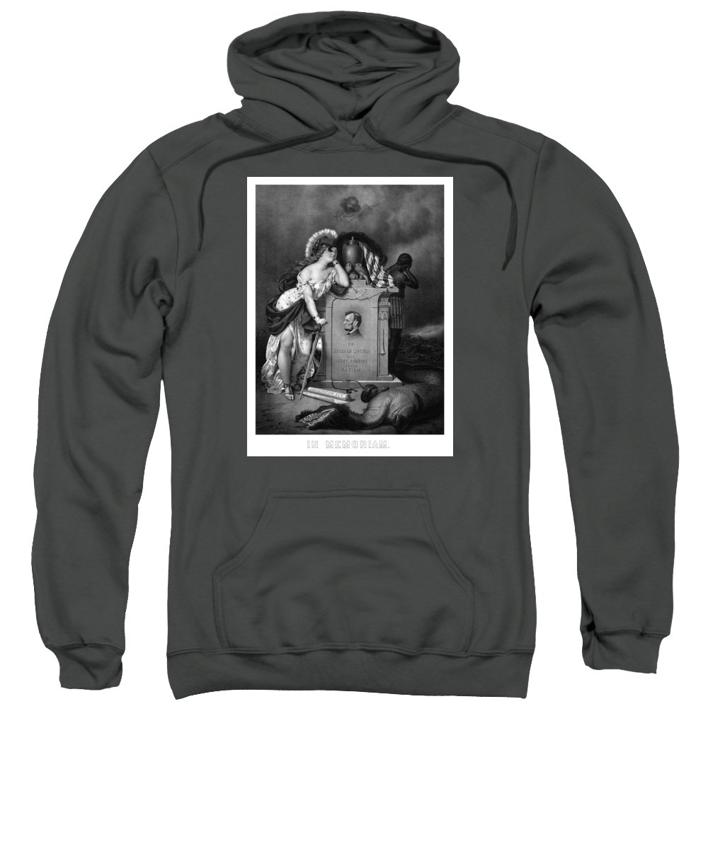 Abraham Lincoln Sweatshirt featuring the painting Abraham Lincoln In Memoriam by War Is Hell Store