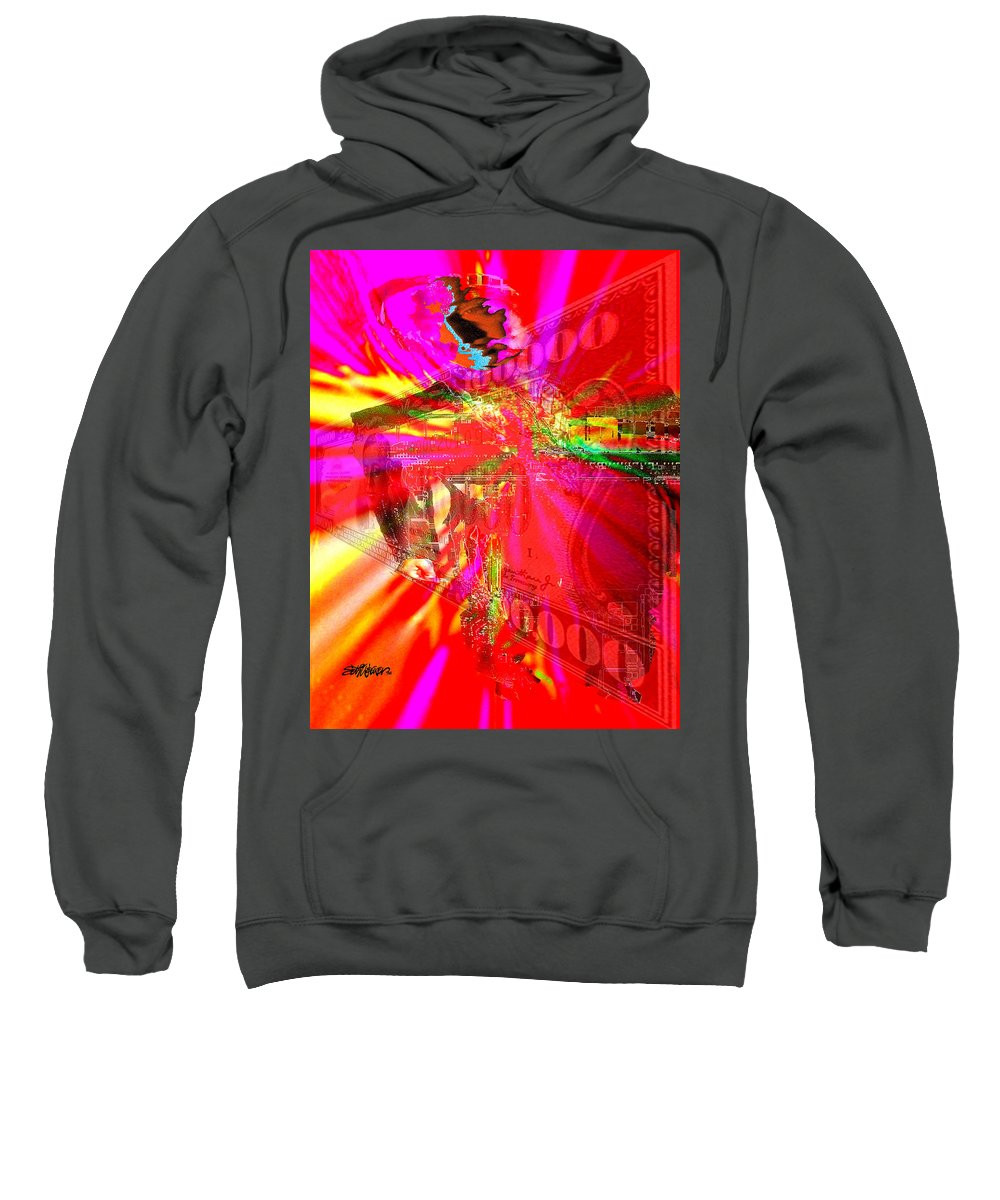 Absolute Power Sweatshirt featuring the digital art Absolute Power Corrupts Absolutely by Seth Weaver