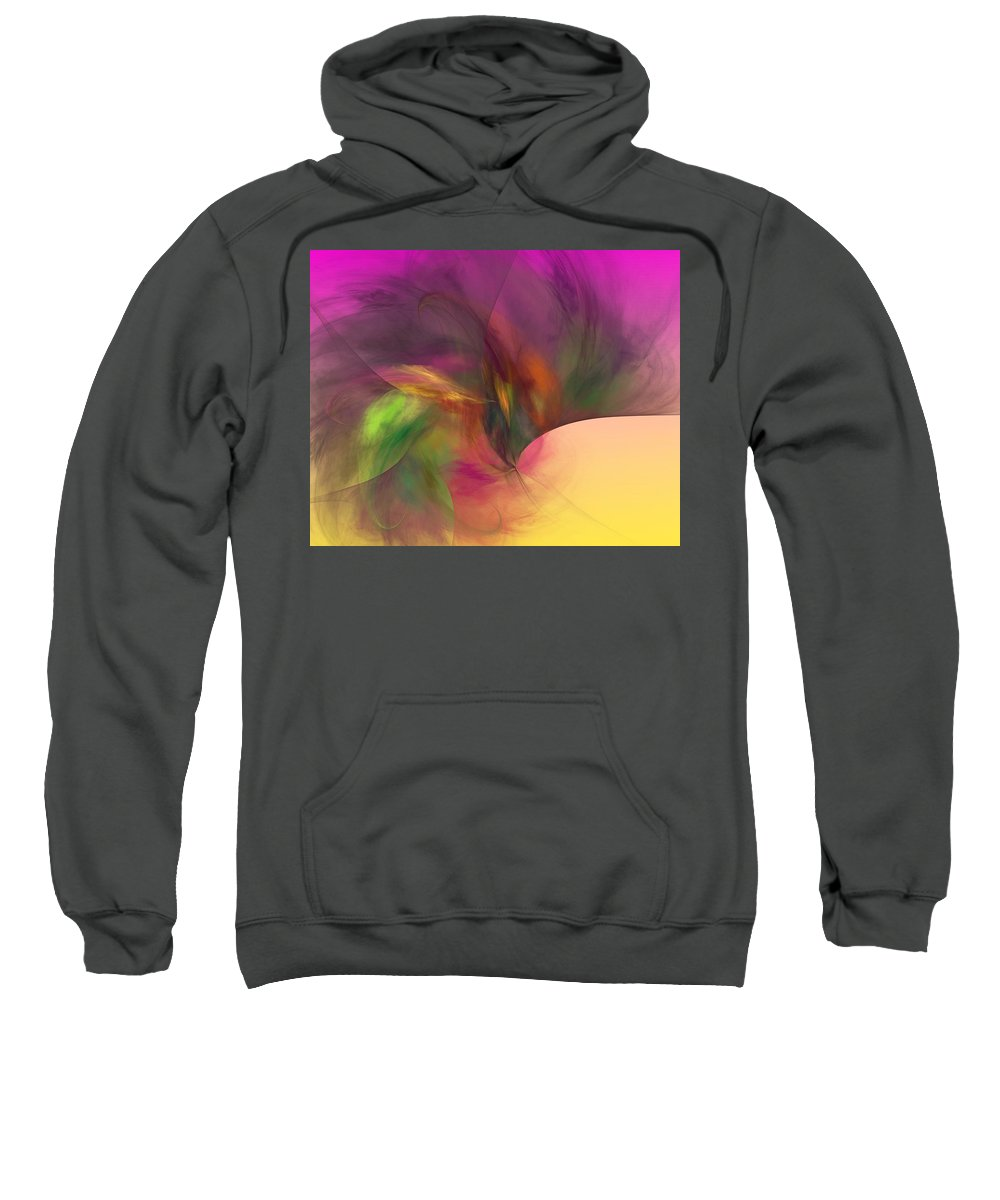 Abstract Sweatshirt featuring the digital art Abstract 030111 by David Lane