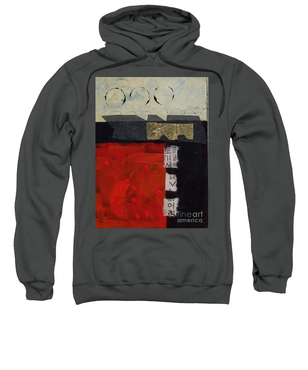 Abstract Sweatshirt featuring the painting Abstract 071 by Donna Frost