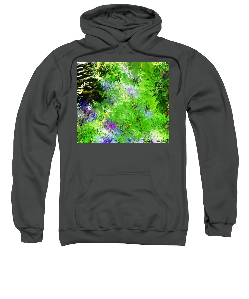 Abstract Sweatshirt featuring the digital art Abstract 5-26-09 by David Lane