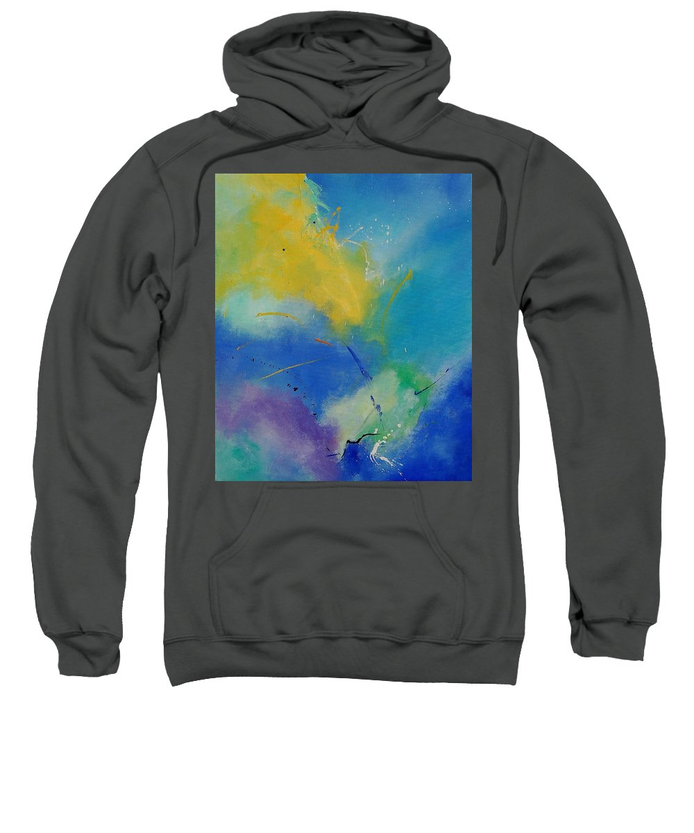 Abstract Sweatshirt featuring the painting Abstract 564897 by Pol Ledent