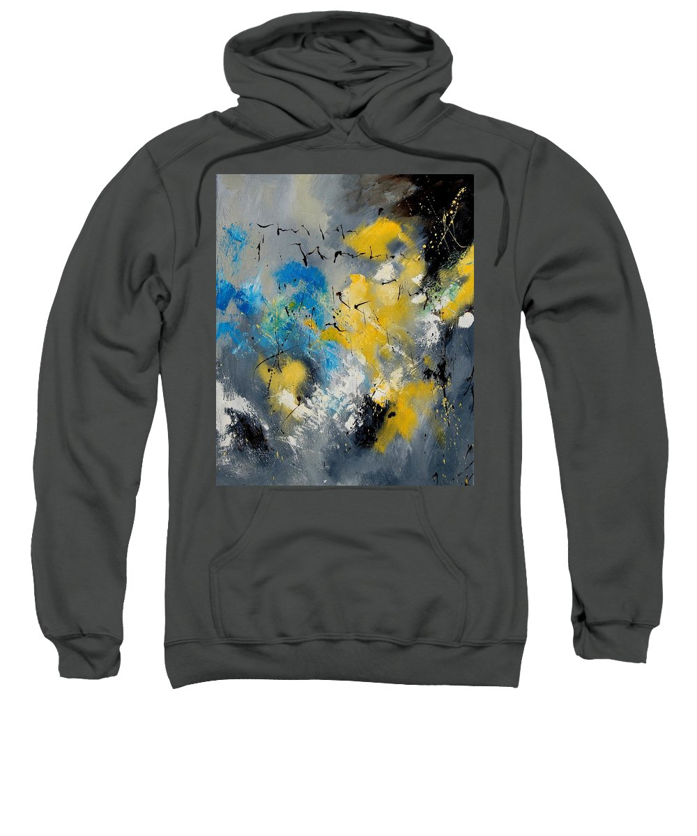 Abstract Sweatshirt featuring the painting Abstract 569070 by Pol Ledent