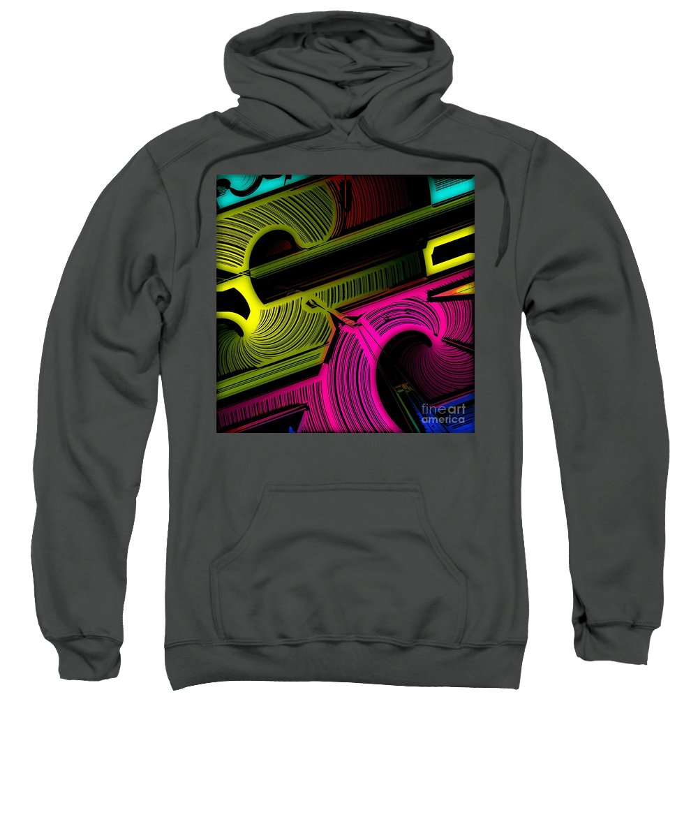 Abstract Sweatshirt featuring the digital art Abstract 6-21-09 by David Lane