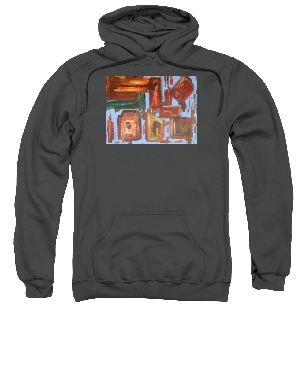 Abstract Sweatshirt featuring the painting Abstract 611 by Patrick J Murphy