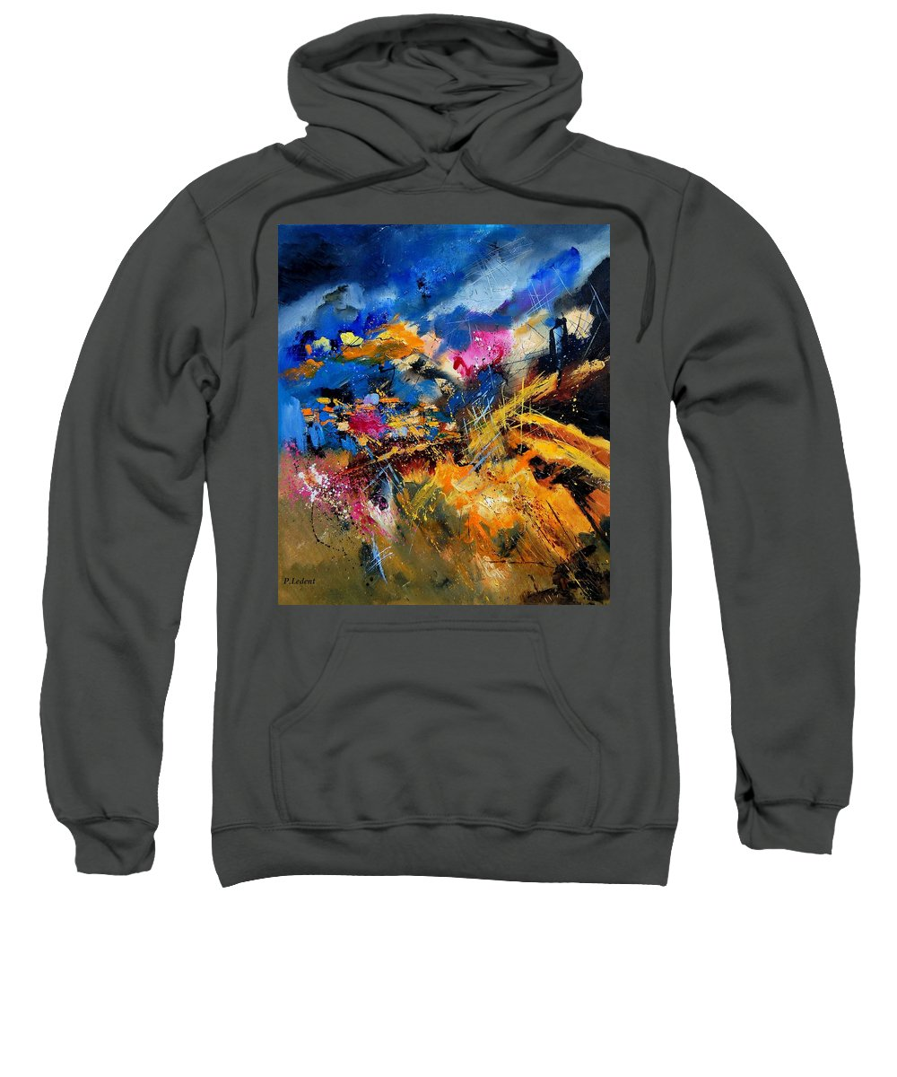 Abstract Sweatshirt featuring the painting Abstract 7808082 by Pol Ledent