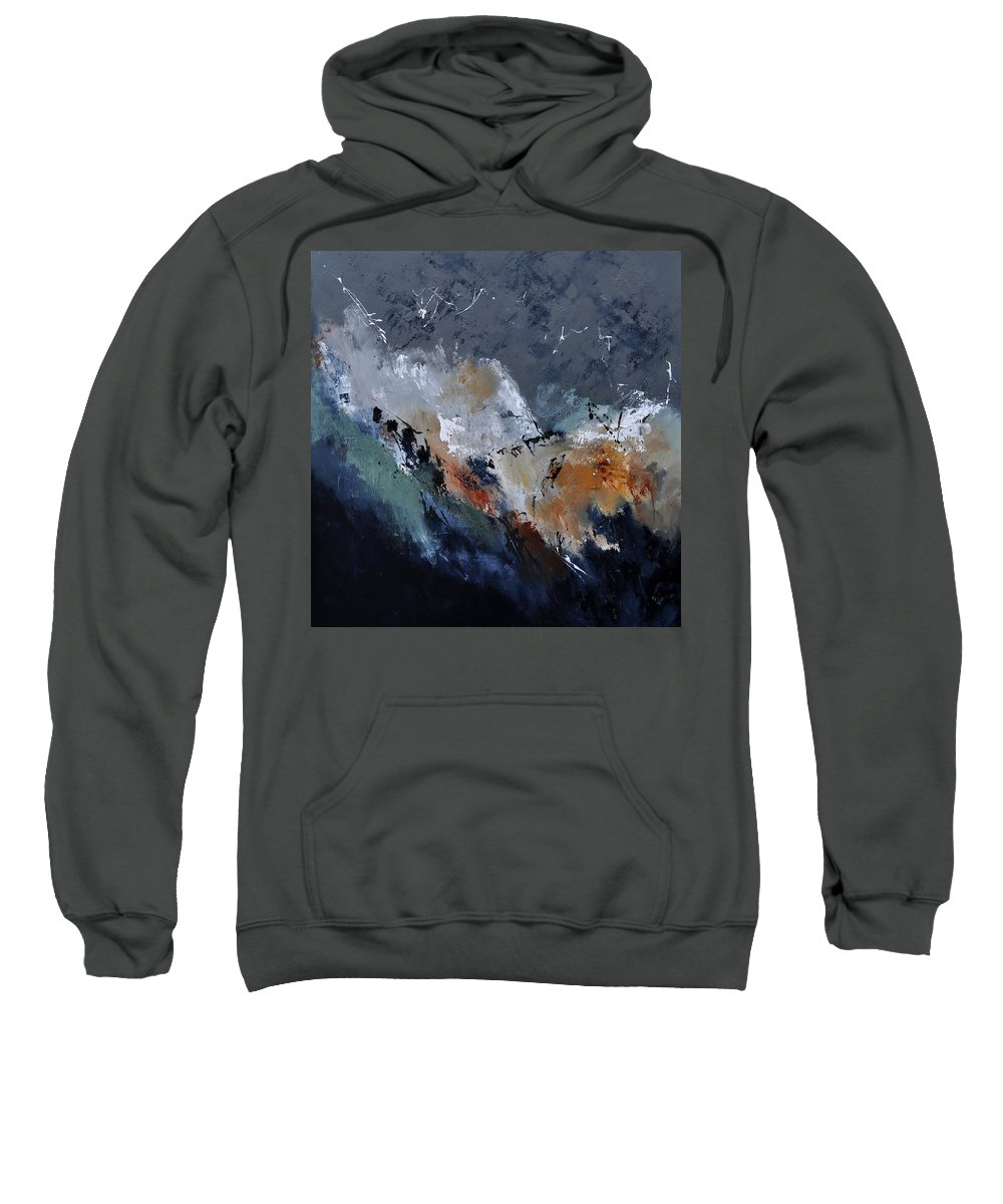 Abstract Sweatshirt featuring the painting Abstract 8821901 by Pol Ledent