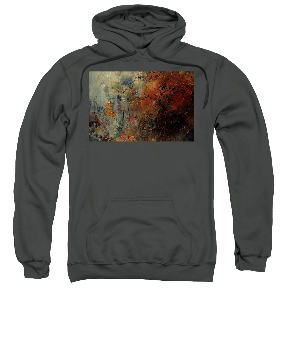 Abstract Sweatshirt featuring the painting Abstract 900192 by Pol Ledent